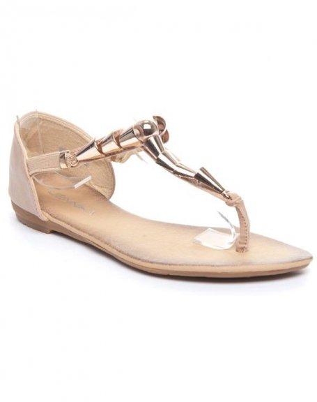 Chaussures femme Jennika: Sandale beige