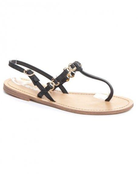 Chaussures femme Jennika: Sandale noire