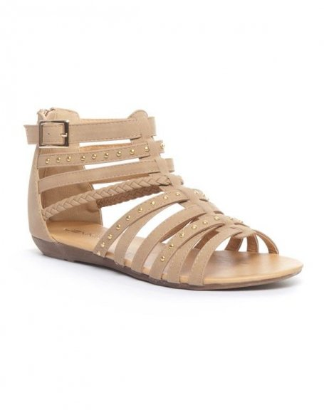 Chaussures femme Jennika: Spartiates kaki