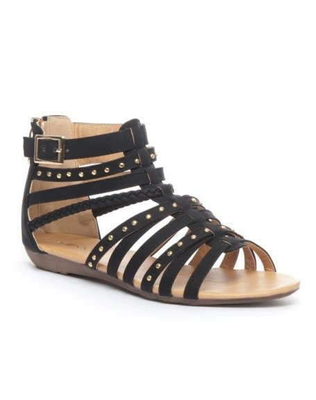 Chaussures femme Jennika: Spartiates noir