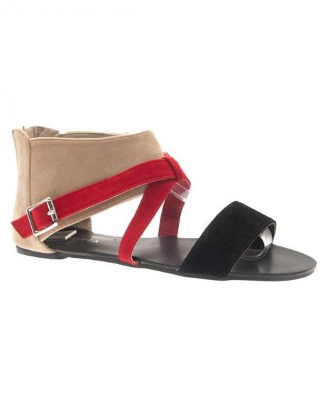 Chaussures femme Jennika: Tong beige