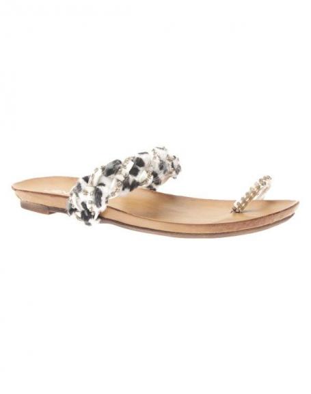 Chaussures femme Jennika: Tong blanche