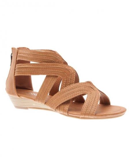 Chaussures femme Jennika: Tong camel