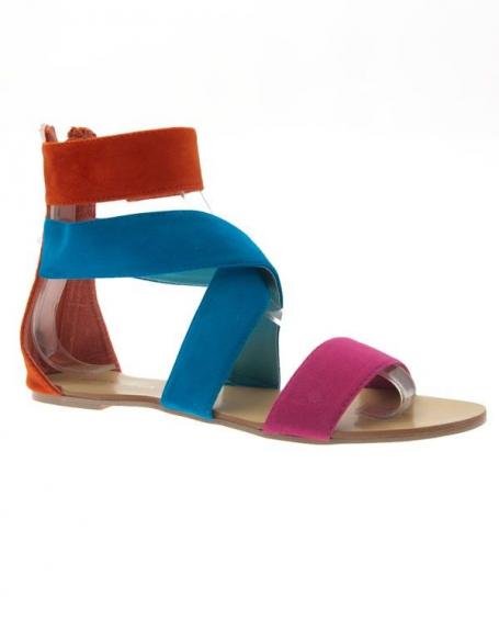 Chaussures femme Jennika: Tong multicolore