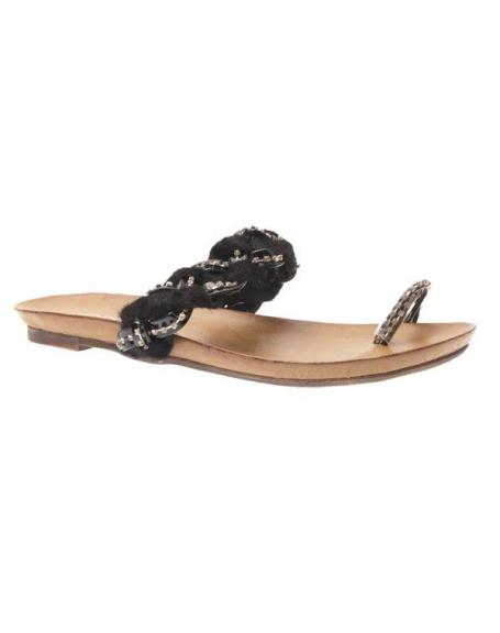 Chaussures femme Jennika: Tong noire