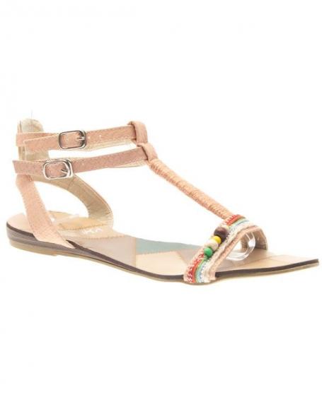 Chaussures femme Jennika: Tong rose