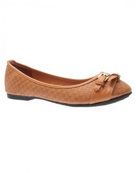 Chaussures femme Just Woman: Ballerines camel