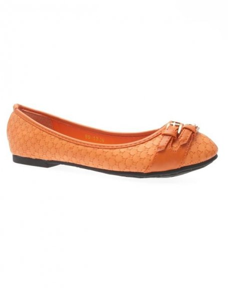 Chaussures femme Just Woman: Ballerines orange