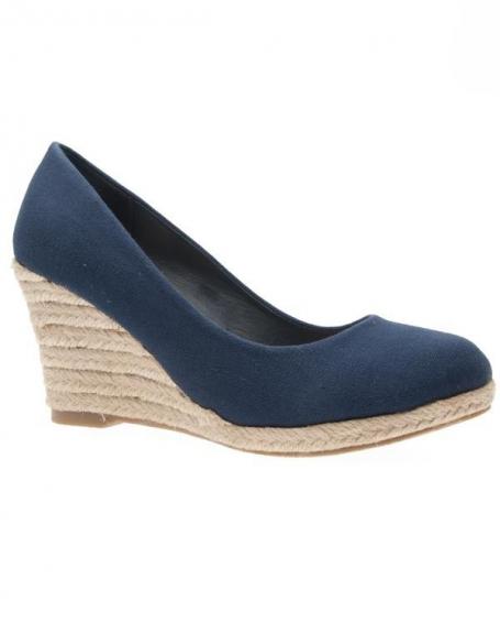 Chaussures femme Just Woman: Escarpin compensé bleu