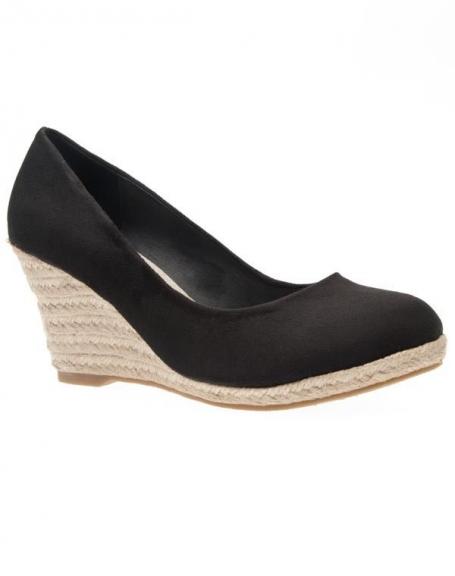 Chaussures femme Just Woman: Escarpin compensé noir