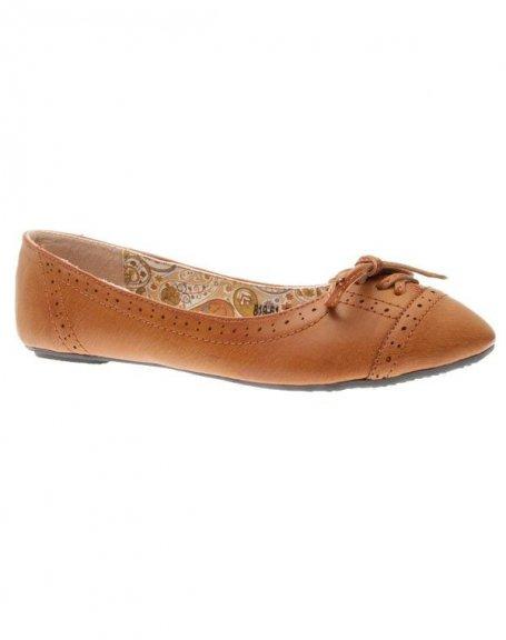 Chaussures femme L. Lux: Ballerines camel