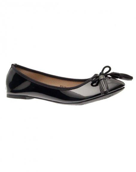 Chaussures femme L. Lux: Ballerines vernis noir