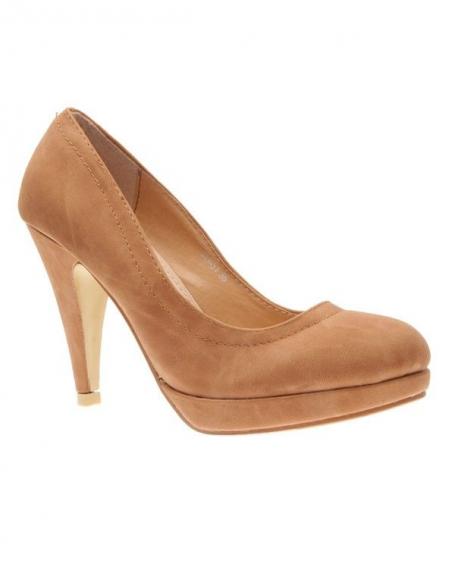 Chaussures femme L. Lux: Escarpins camel