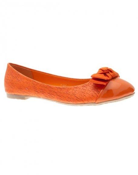 Chaussures femme Laura Mode: Ballerines orange