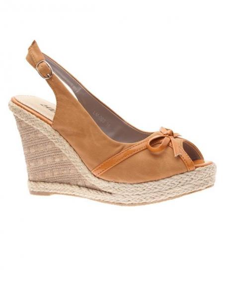 Chaussures femme Laura Mode: Escarpins ouvert kaki