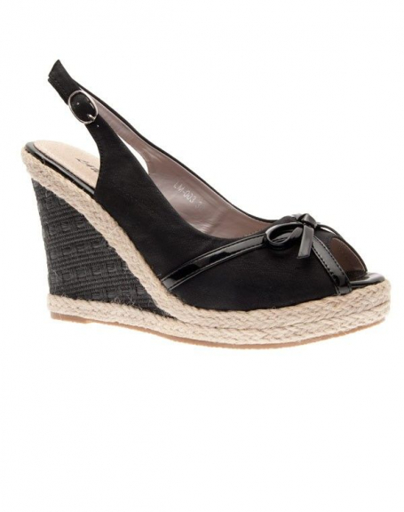 Chaussures femme Laura Mode: Escarpins ouvert noir