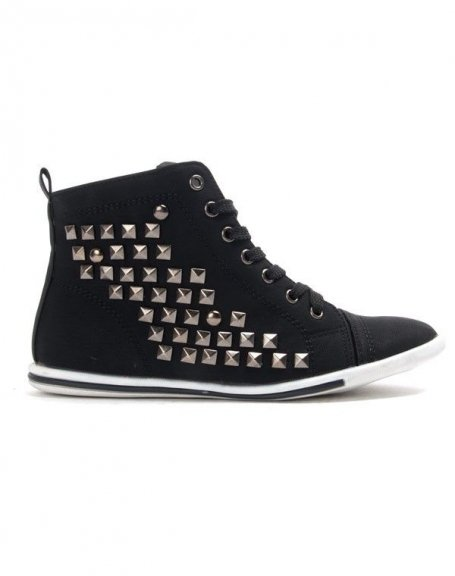 Chaussures femme Libra Pop: Basket clouté - noir