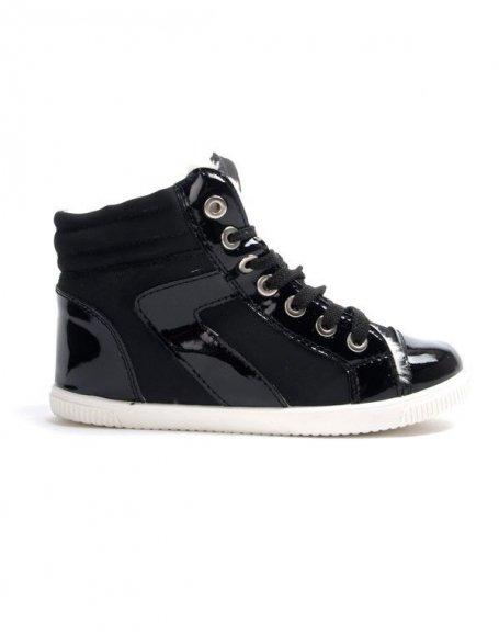 Chaussures femme Libra Pop: Basket fourrée - noir