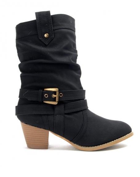69091f9295b87 Chaussures femme Libra Pop  Botte à petit talon - noir