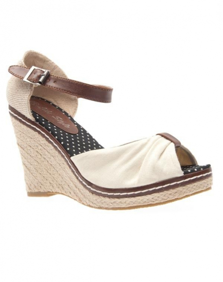 Chaussures femme Like Style: Escarpin ouvert beige