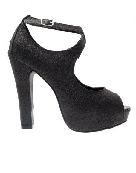 Chaussures femme Like Style: Escarpins noir pailleté