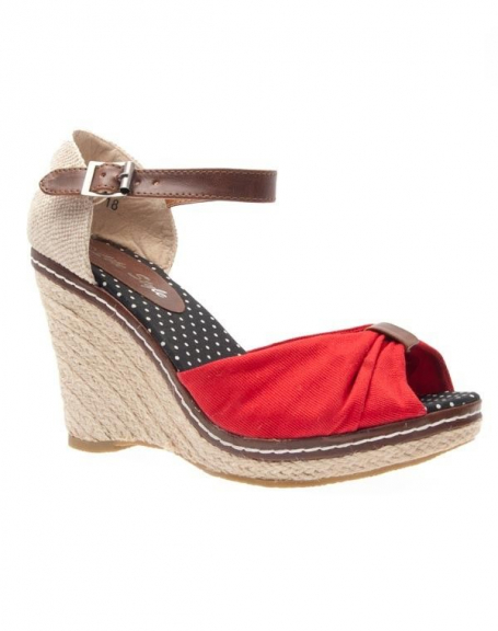 Chaussures femme Like Style: Escarpins ouvert rouge