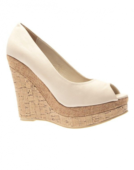 Chaussures femme Like Style: Escarpins ouverts beiges