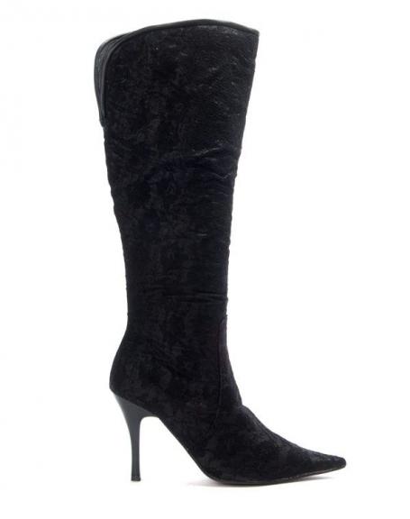 Chaussures femme Like You: Botte à talon noire pointu