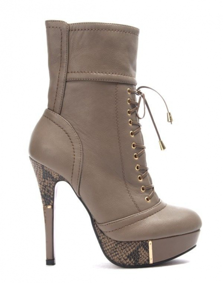 Like Talon YouBotte À Chaussures Taupe Femme wnkPO0