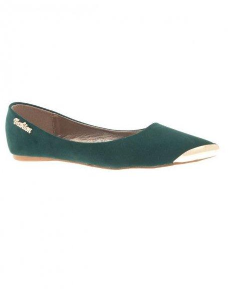 Chaussures femme Metalika: Ballerine pointu vert