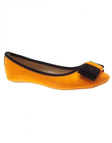 Chaussures femme Metalika: Ballerines oranges