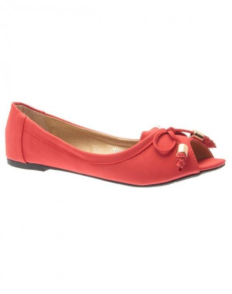 Chaussures femme Metalika: Ballerines ouvertes rouges