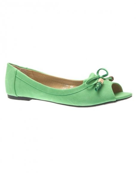 Chaussures femme Metalika: Ballerines ouvertes verts
