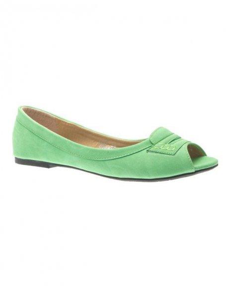 Chaussures femme Metalika: Ballerines verts