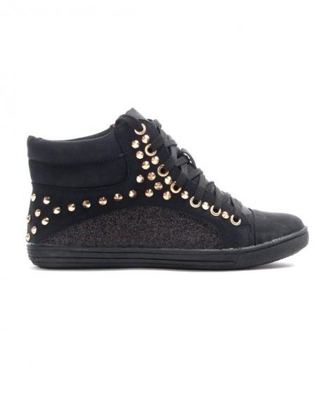 Chaussures femme Metalika: Basket clouté noire