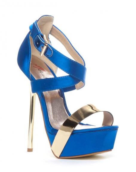 Chaussures femme Metalika: Escarpin ouvert bleu
