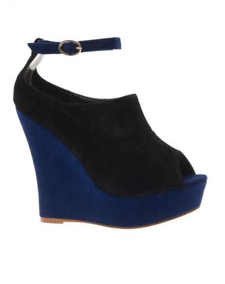 Chaussures femme Metalika: Escarpins compensés noirs
