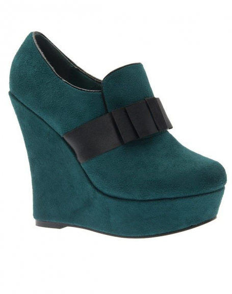 Chaussures femme Metalika: Escarpins compensés vert