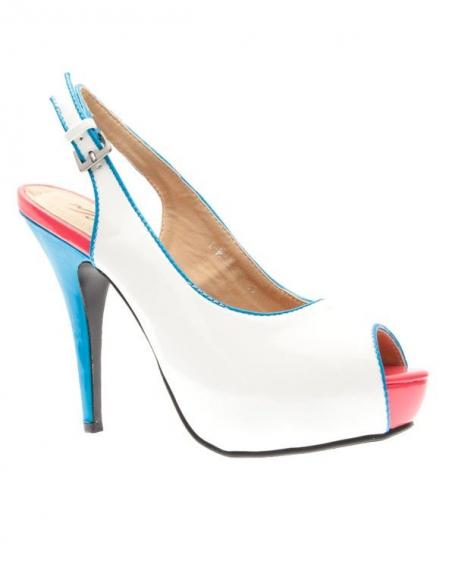 Chaussures femme Metalika: Escarpins ouvert blanc