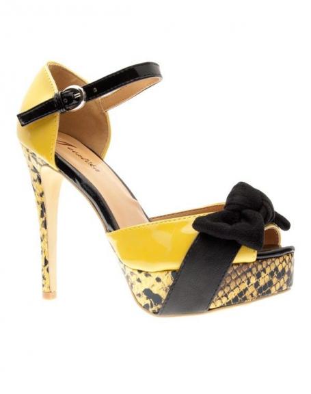 Chaussures femme Metalika: Escarpins ouvert jaune