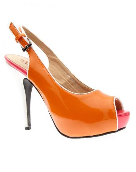 Chaussures femme Metalika: Escarpins ouvert orange
