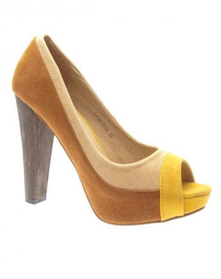 Chaussures femme Metalika: Escarpins ouverts Beiges
