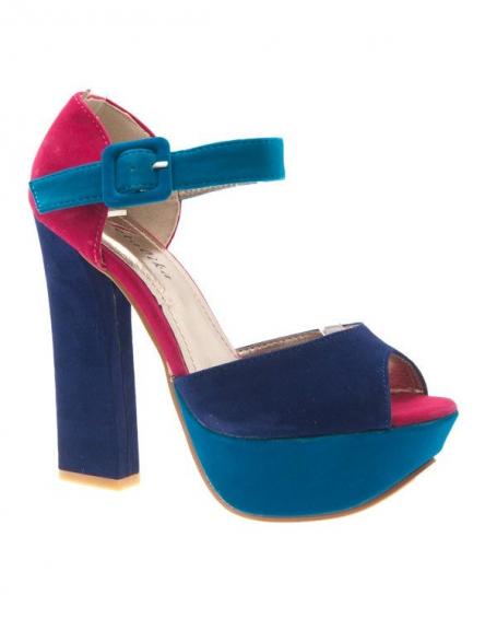 Chaussures femme Metalika: Escarpins ouverts bleu
