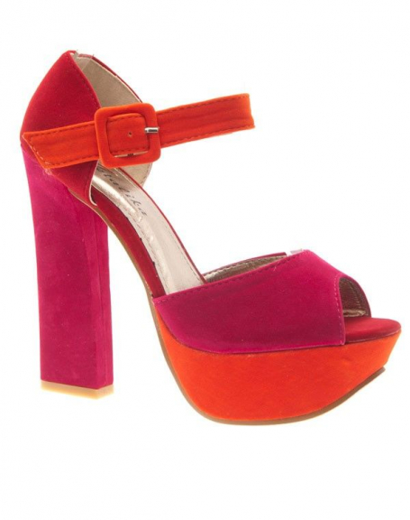 Chaussures femme Metalika: Escarpins ouverts fuchsia