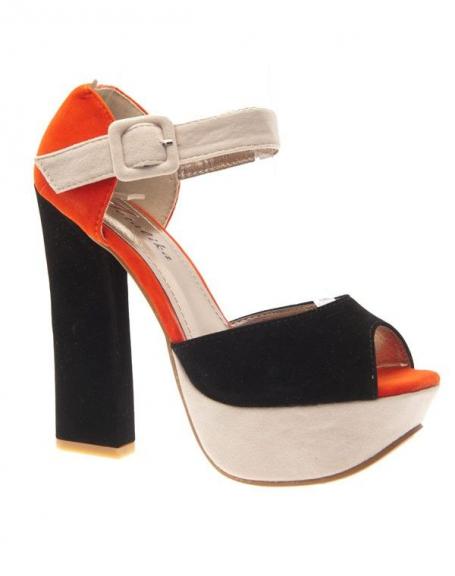 Chaussures femme Metalika: Escarpins ouverts noirs