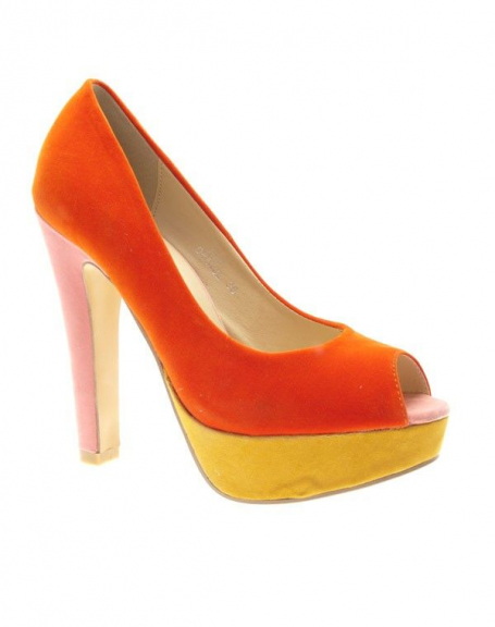 Chaussures femme Metalika: Escarpins ouverts Orange