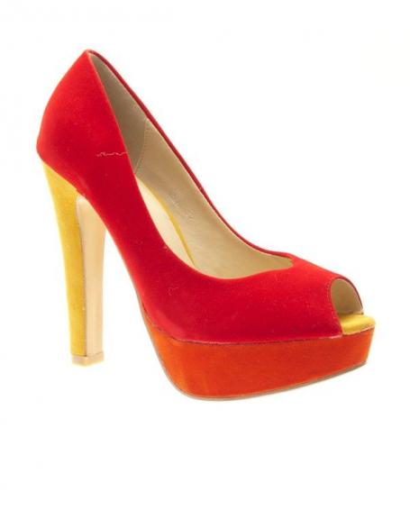 Chaussures femme Metalika: Escarpins ouverts Rouge