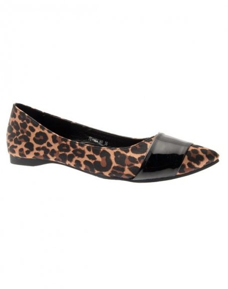 Chaussures Femmes Ballerines Pointues Leopards