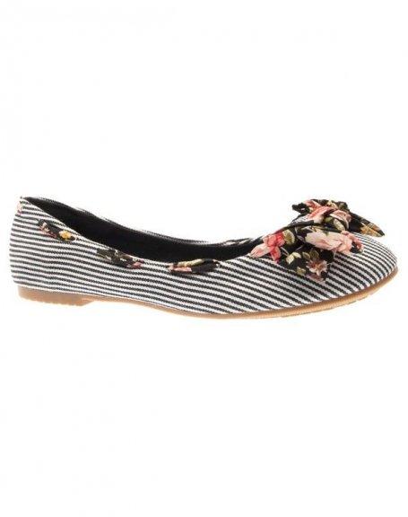 Chaussures femme Raxmax: Ballerines rayées et fleuries