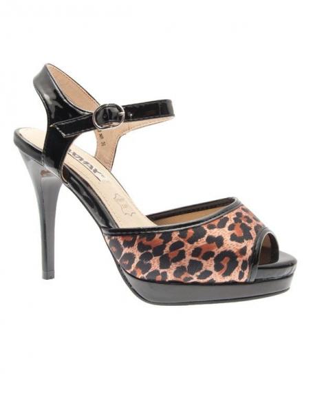 Chaussures femme Raxmax: Escarpins ouverts vernis noir